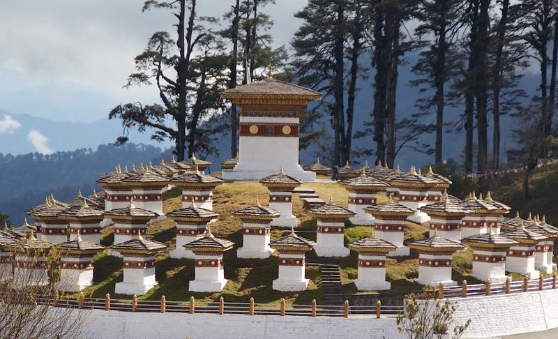 108 Stupas at the Druk wangyel chorten