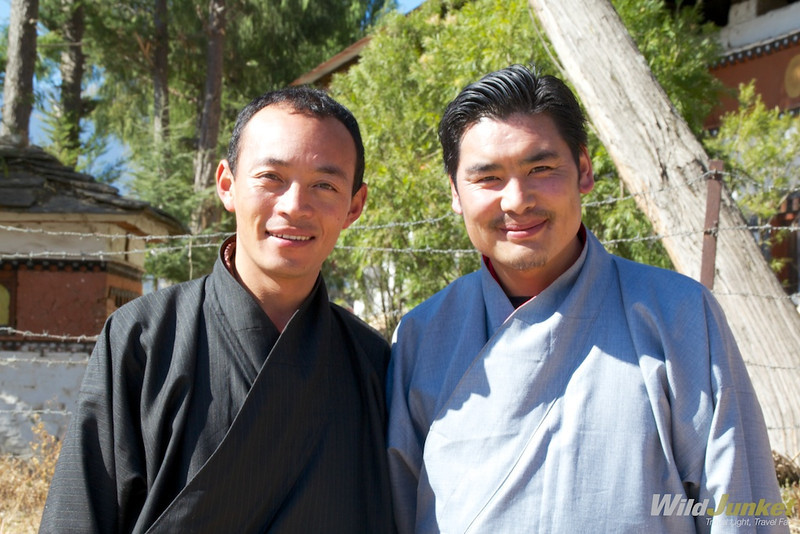My guide Sangay and driver Nidrup from Bridge to Bhutan