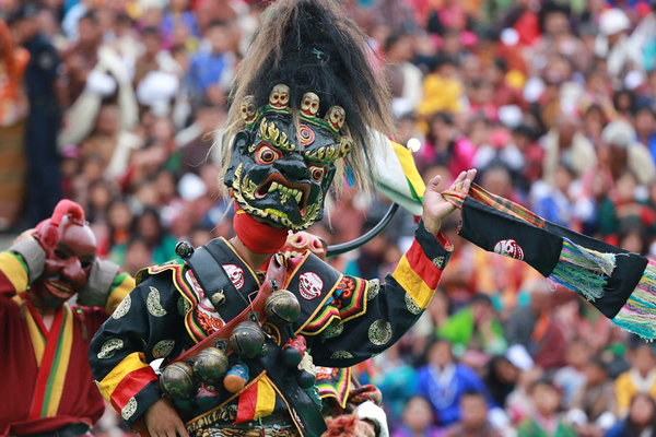Masked Dance at Thimphu Tshechu