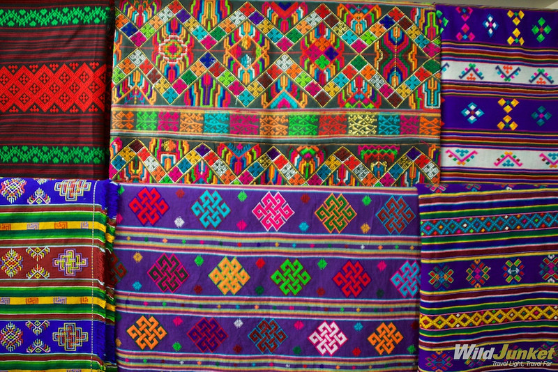Colorful handwoven fabrics