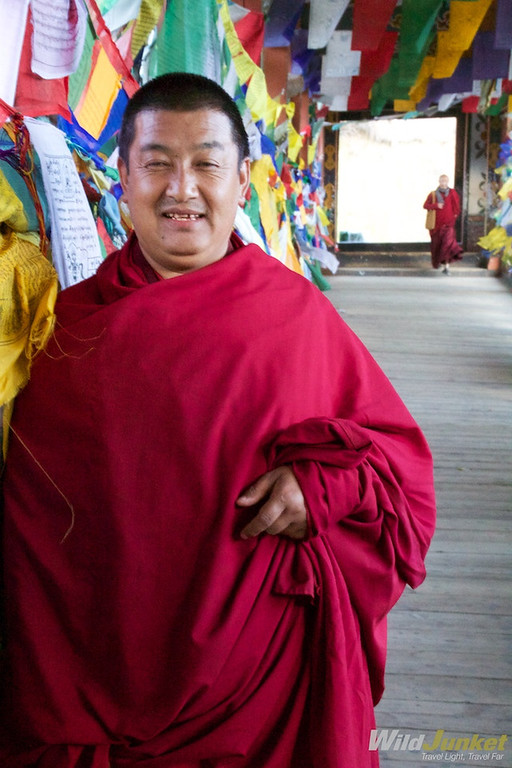 Befriending a monk in Thimphu