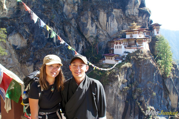With my local guide Sangay in Bhutan