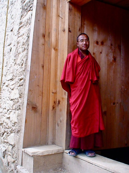 Monk at Simthoka Dzong