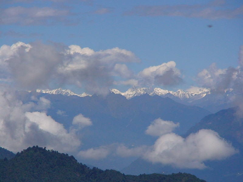 View of The Himalayan ranges