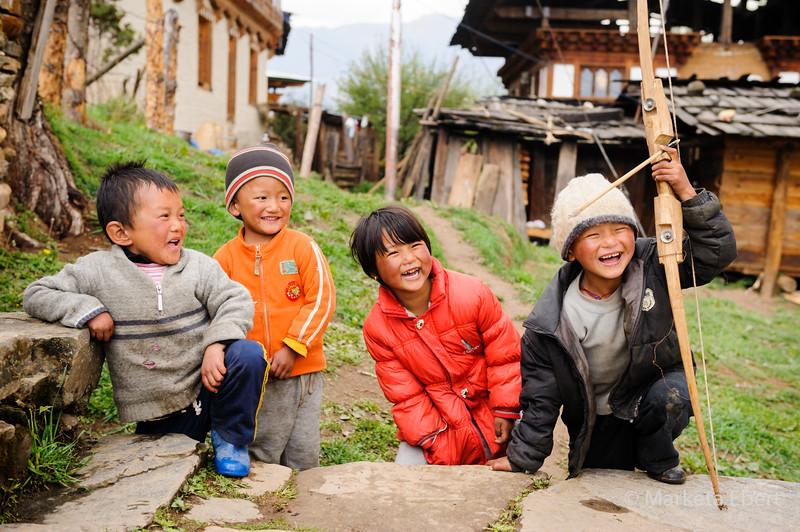 Kids from remote village