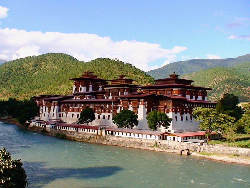 Punakha Dzong built in 1637