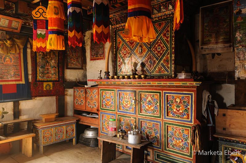Altar room in farmhouse
