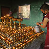 Filling butter lamps