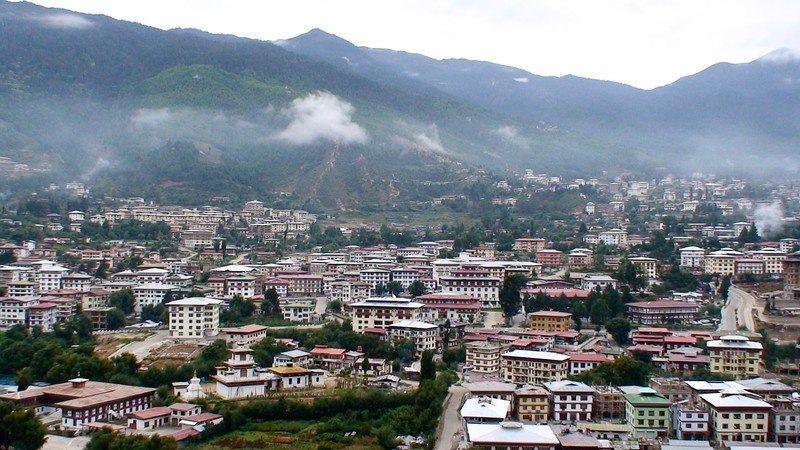 Early morning view of Thimphu