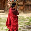 Preparation for masked dance