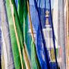 Stupa through prayer flags