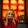 Monk with mask
