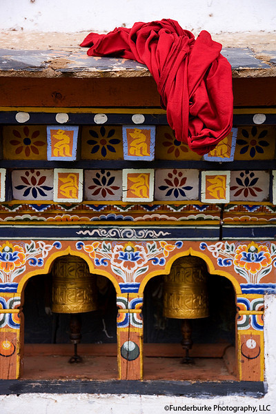 Monk's Robe and Prayer Wheels