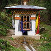 Water driven prayer wheel