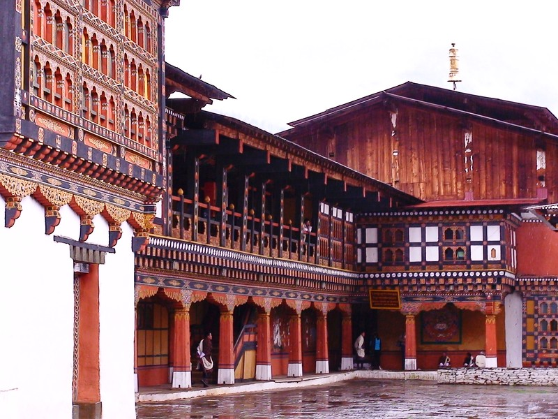 Courtyard of Paro Dzong