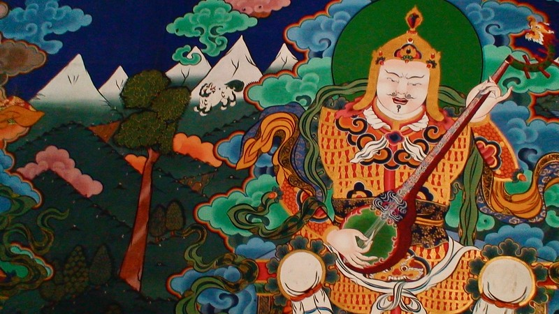 Wall mural of Guru Rinpoche
