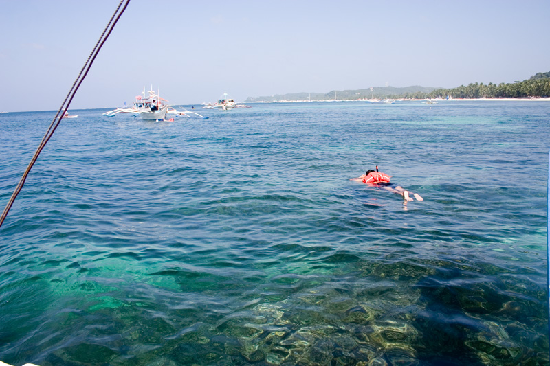 That's me snorkelling