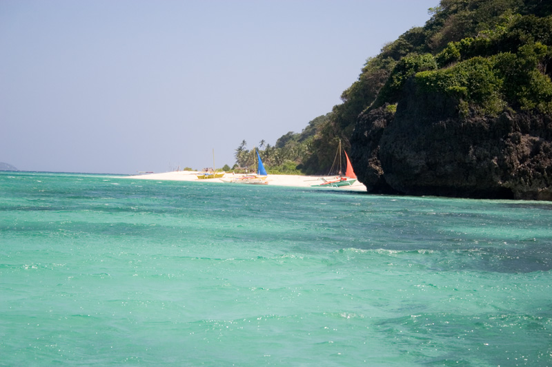 Approaching a beach for lunch