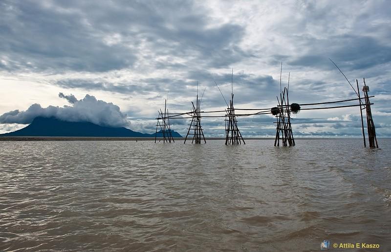 Fishing Platform, Bako Rv., Sarawak, Borneo, Malaysia