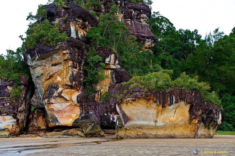 Beach / Escarpment, Bako NP, Sarawak, Borneo, Malaysia