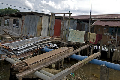 Slum near Mosque - Brunei