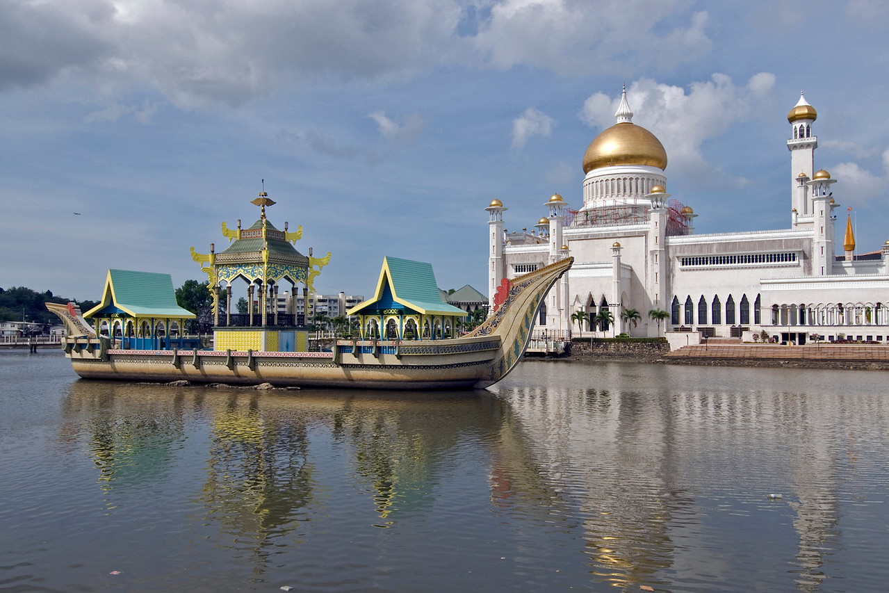 Mosque and Boat 2 - Brunei