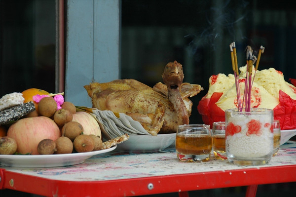 Altar for Chinese New Year - Phnom Penh, Cambodia