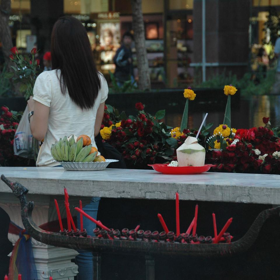 Buddhist Offerings - Bangkok, Thailand