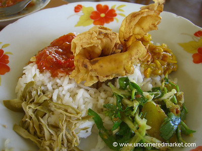 Burmese Food, Lunch  - Meiktila, Burma