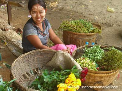 Burmese Vendor at Market - Bagan, Burma