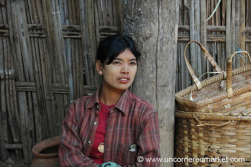Pensive Burmese Woman - Bagan, Burma