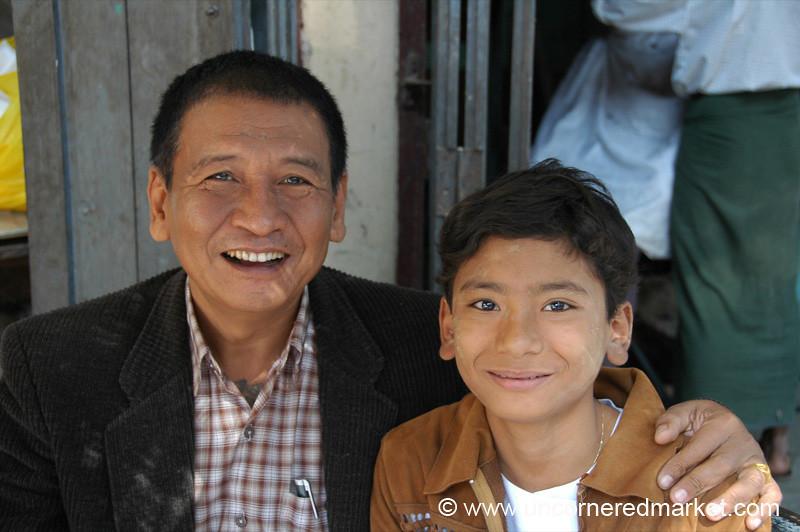 Proud Burmese Father and Daughter - Bagan, Burma