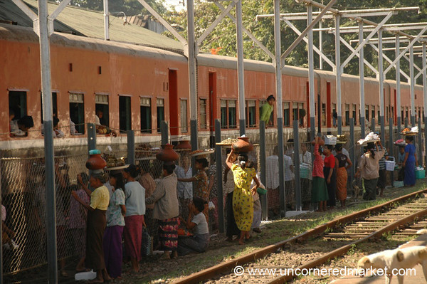 Vendors at the Train Station - Toungoo, Burma