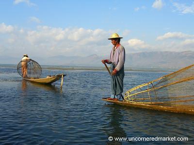 Traditional Fishing - Inle Lake, Burma