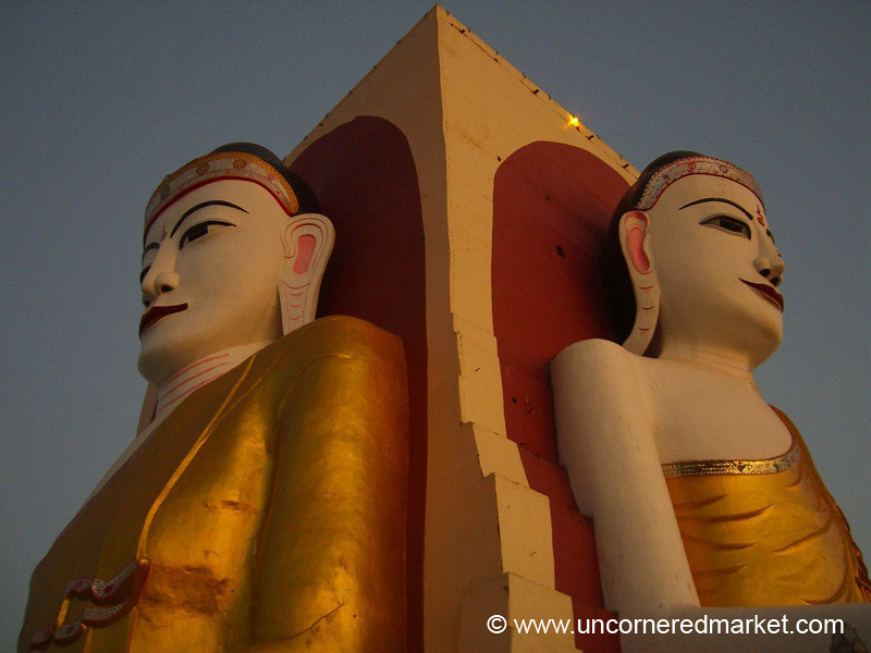 Side by Side Buddha - Bago, Burma