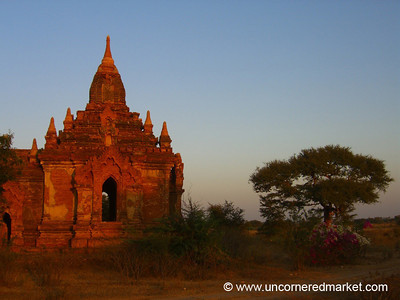 Pagoda in the Late Afternoon - Bagan, Burma