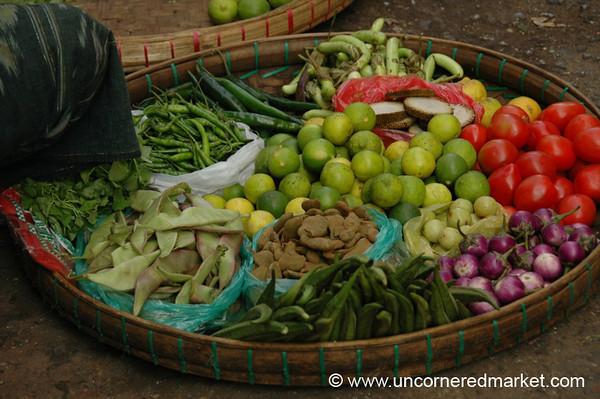 Burmese Vegetable Basket - Rangoon, Burma (Yangon, Myanmar)