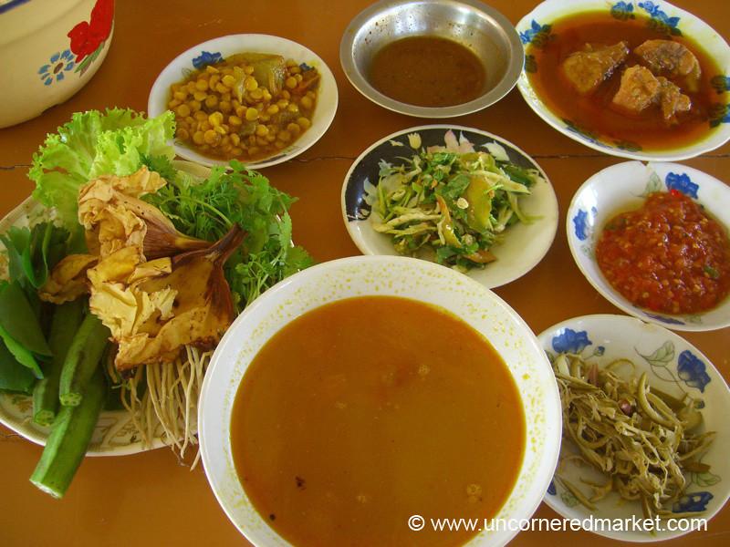 Burmese Feast of Curries - Meiktila, Burma