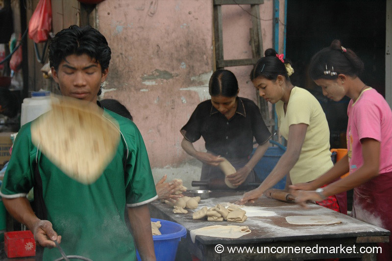 Chapati Makers - Mandalay, Burma