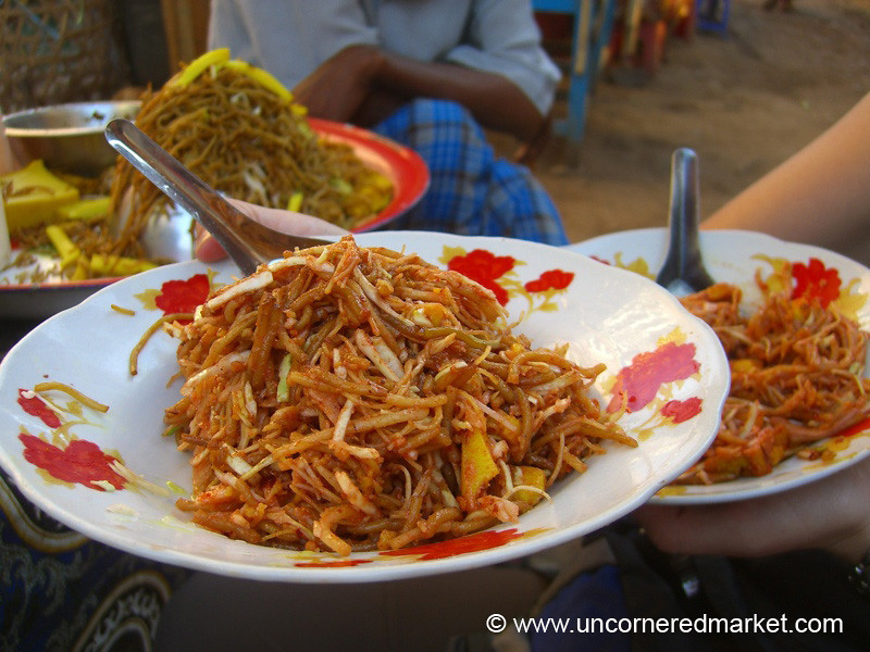 Burmese Food, Spicy Noodles - Bagan, Burma