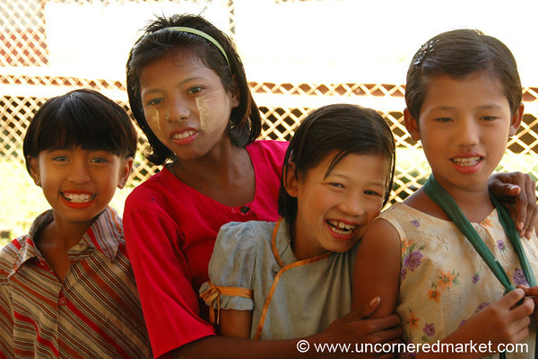 Group of Burmese Girls - Toungoo, Burma