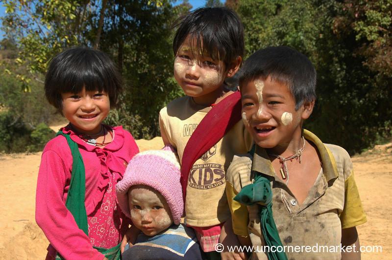 Shy School Kids - Kalaw, Burma