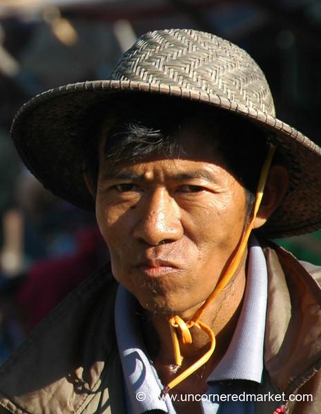 Burmese Man in a Hat - Toungoo, Burma