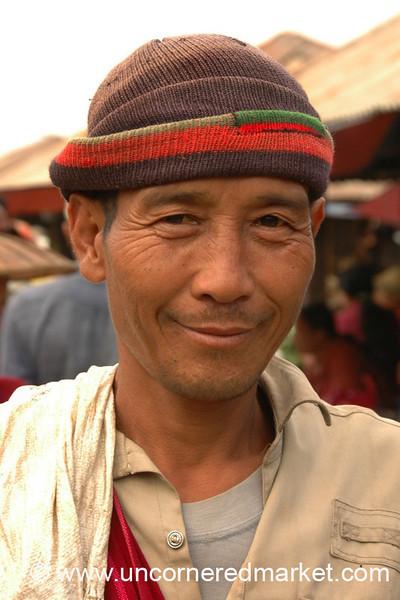 Man at Nam Pan Market - Inle Lake, Burma