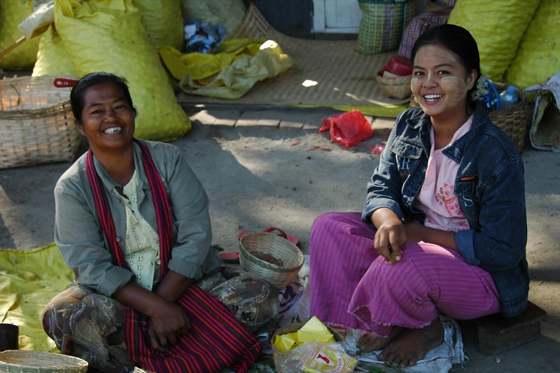 Women at the Marketf - Toungoo, Myanmar