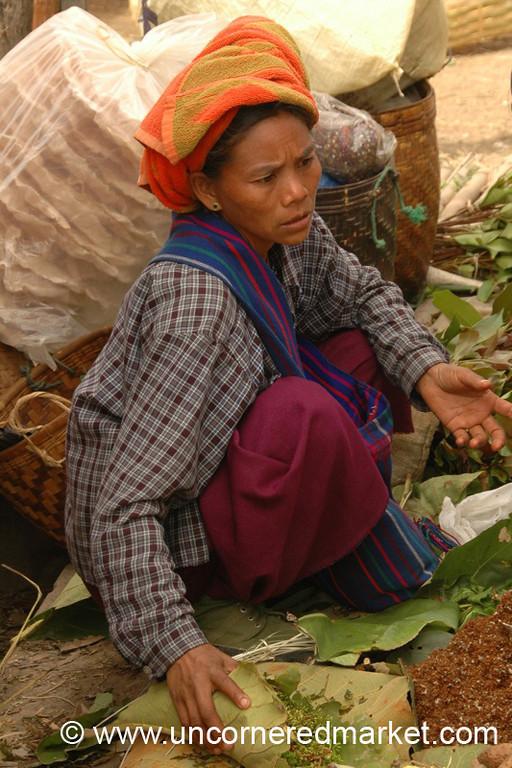 Unhappy Vendor - Inle Lake, Burma