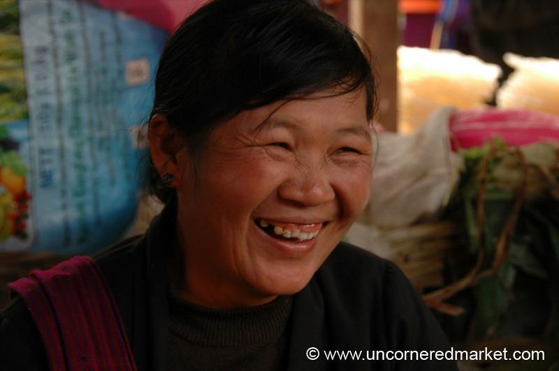 Hearty Laugh, Nam Pan Market - Inle Lake, Burma