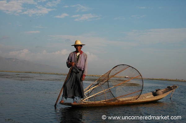 Local Fisherman at Inle Lake - Burma
