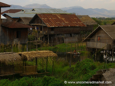 Typical Houses at Inle Lake - Inle Lake, Burma