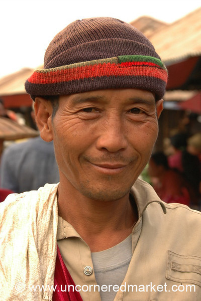 Man at Nam Pan Market - Inle Lake, Burma